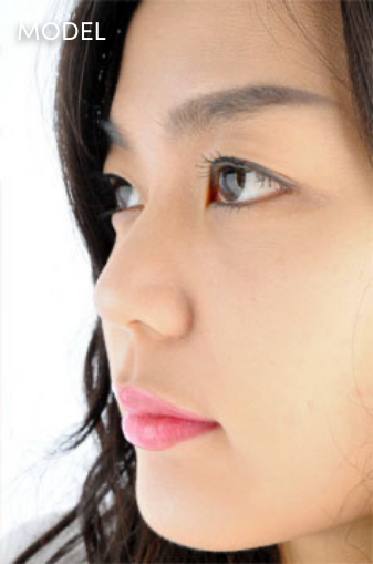 Close Up Profile Shot of Young Asian Woman's Face